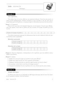 Cours et activités, Statistiques Activité 4