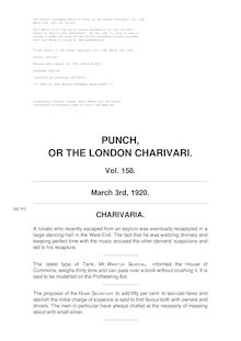 Punch, or the London Charivari, Volume 158, March 3rd, 1920