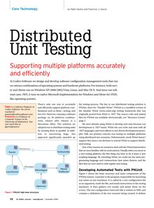 Distributed Unit Testing: supporting multiple platforms accurately and efficiently