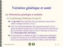 Patrimoine génétique et maladie - Cours SVT Première S