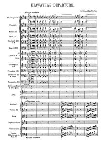 Partition Complete Orchestral Score, pour Song of Hiawatha, Op.30