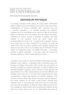 Définition de : GRANDEUR PHYSIQUE - Jean-Marc LÉVY-LEBLOND