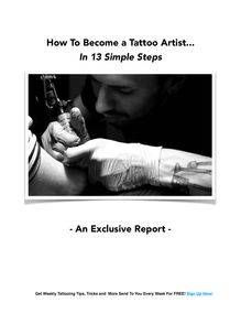 How To Become a Tattoo Artist