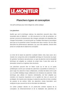 Planchers types et conception