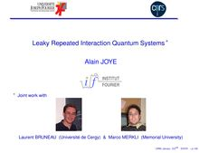 Leaky Repeated Interaction Quantum Systems