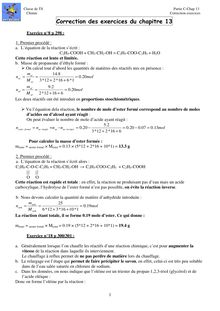 Classe de TS Partie C Chap Chimie Correction exercices