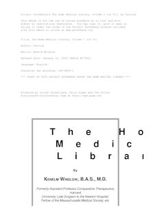 The Home Medical Library, Volume I (of VI)