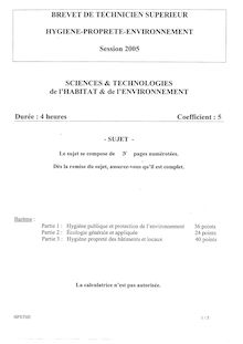 Sciences et technologies de l