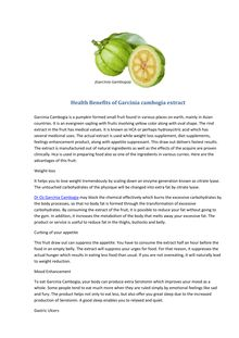 Health Benefits of Garcinia cambogia extract