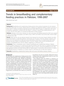 Trends in breastfeeding and complementary feeding practices in Pakistan, 1990-2007