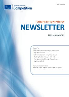 Competition policy newsletter