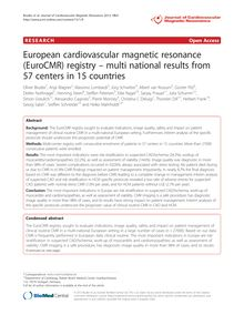 European cardiovascular magnetic resonance (EuroCMR) registry – multi national results from 57 centers in 15 countries