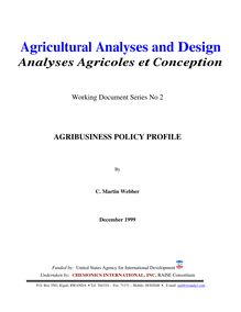 Agricultural Analyses and Design