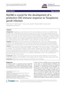 MyD88 is crucial for the development of a protective CNS immune response to Toxoplasma gondii infection
