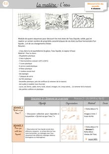 DDM CP/CE1 – L'eau - Contributions Dorothée leau