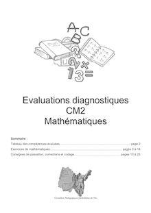 Evaluations diagnostiques CM2 Mathématiques