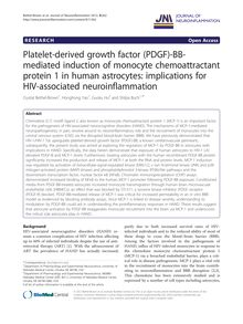 Platelet-derived growth factor (PDGF)-BB-mediated induction of monocyte chemoattractant protein 1 in human astrocytes: implications for HIV-associated neuroinflammation
