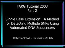 ABRF tutorial 2003 update