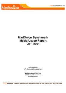 Benchmark online usage report 2001 Q4 FINAL