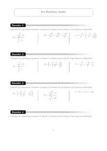 Accompagnement personnalisé, Probabilités Fractions (2)