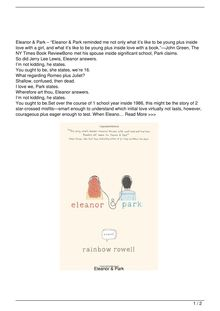 Eleanor amp Park Book Reviews