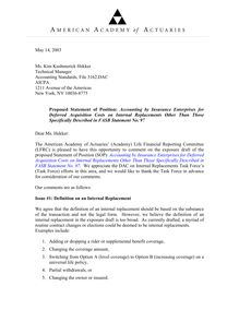 Comment letter to AICPA (May 15, 2003)