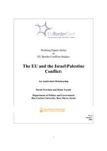 The EU and the Israel\Palestine Conflict: