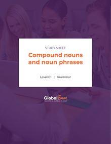 Compound nouns and noun phrases