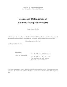 Design and optimization of resilient multipath networks [Elektronische Ressource] / Claus Günter Gruber