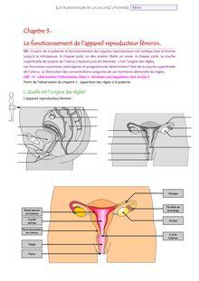 Cours sur le fonctionnement de l'appareil reproducteur féminin - SVT quatrième
