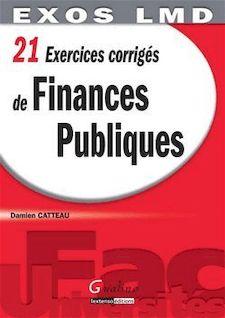 21 Exercices corrigés de finances publiques de Damien Catteau - fiche descriptive