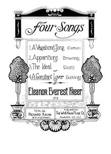 Partition , pour Constant Lover, 4 chansons, Op.9, Freer, Eleanor Everest