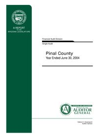 Pinal County June 30, 2004 Single Audit Report