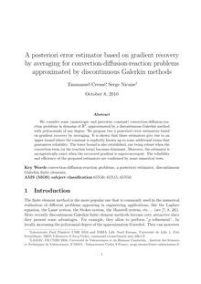 A posteriori error estimator based on gradient recovery by averaging for convection diffusion reaction problems