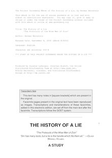 The History of a Lie -