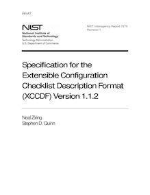 Specification for the Extensible Configuration Checklist ...