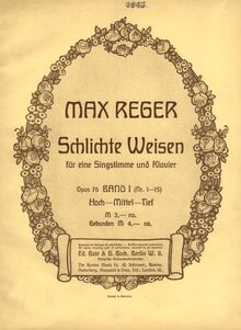 Partition Color covers, ads, Simple chansons, Op.76, Schlichte Weisen, Op.76