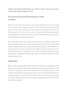 The United States and the Israeli-Palestinian Conflict Avi Shlaim