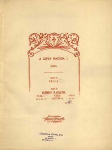 Partition couverture couleur, A Gipsy maiden, I, G minor, Parker, Henry