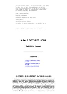 The Tale of Three Lions