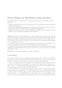 Planar Graphs via Well Orderly Maps and Trees
