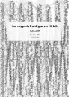 Usages intelligence artificielle 2019 Olivier Ezratty