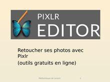 Retoucher ses photos avec Pixlr