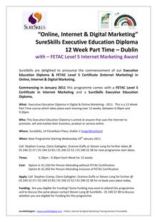 """Online, Internet & Digital Marketing"" SureSkills Executive ..."