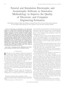 Tutorial and simulation electrooptic and acoustooptic software as innovative methodology to improve the quality of electronic and computer engineering formation