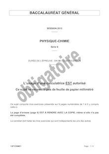 Bac 2013 S Physique oblig
