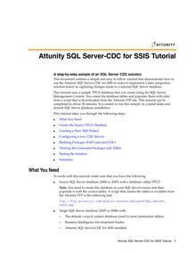 Attunity SQL Server-CDC for SSIS Tutorial