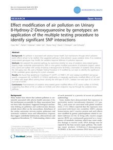 Effect modification of air pollution on Urinary 8-Hydroxy-2