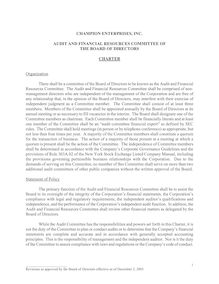 Audit Comm Charter - 12-2-03 Revision 6