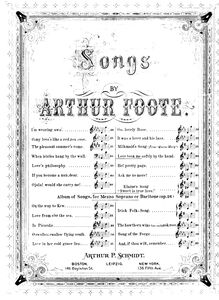 Partition No.3: Love Took Me Softly by pour main, 5 chansons, Op.13